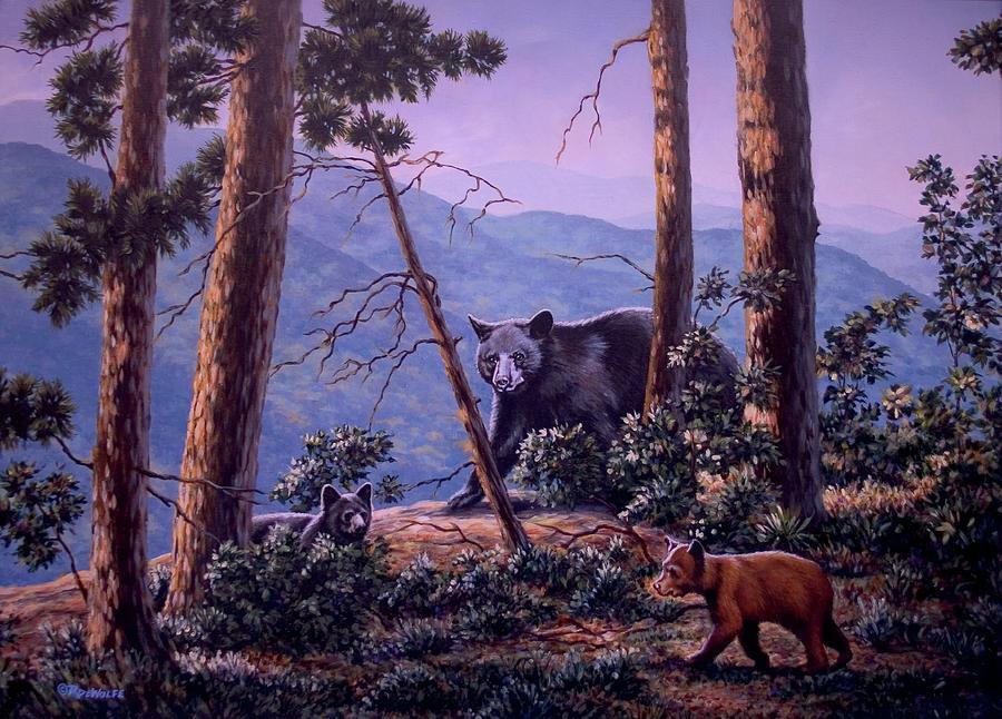Blue Ridge Bears by Richard De Wolfe