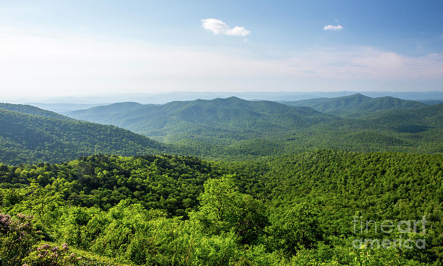 Blue Ridge Mountain Overlook in North Carolina by Kevin McCarthy