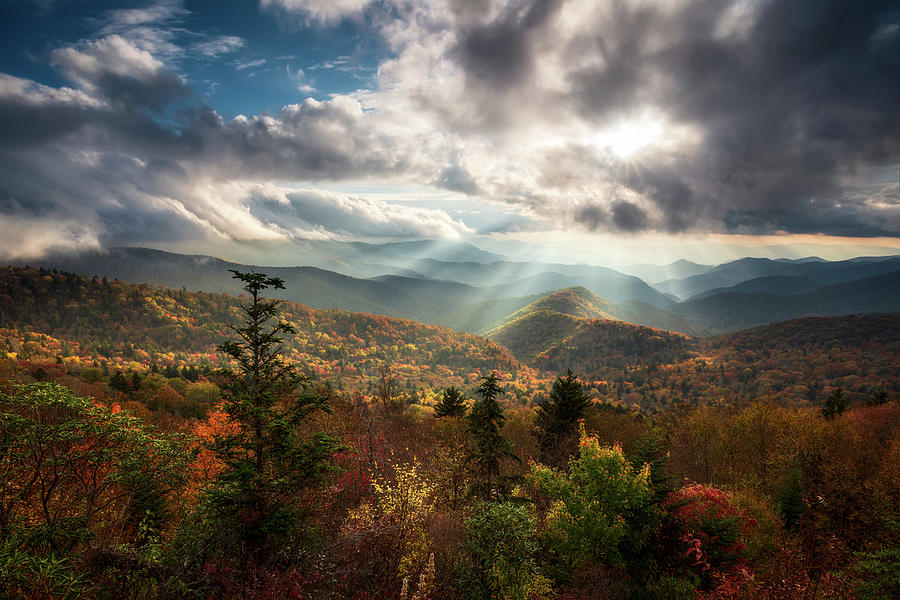 Blue Ridge Mountains Asheville NC Scenic Autumn Landscape Photography by Dave Allen
