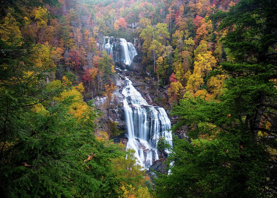 Blue Ridge Mountains Asheville Nc Whitewater Falls Autumn Scenic