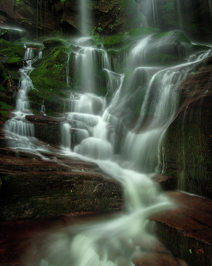 Linville Gorge Photograph - Blue Ridge Mountains Cascade by Mike Koenig