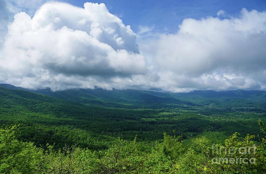 Blue Ridge Mountains Fine Day by Rachel Cohen