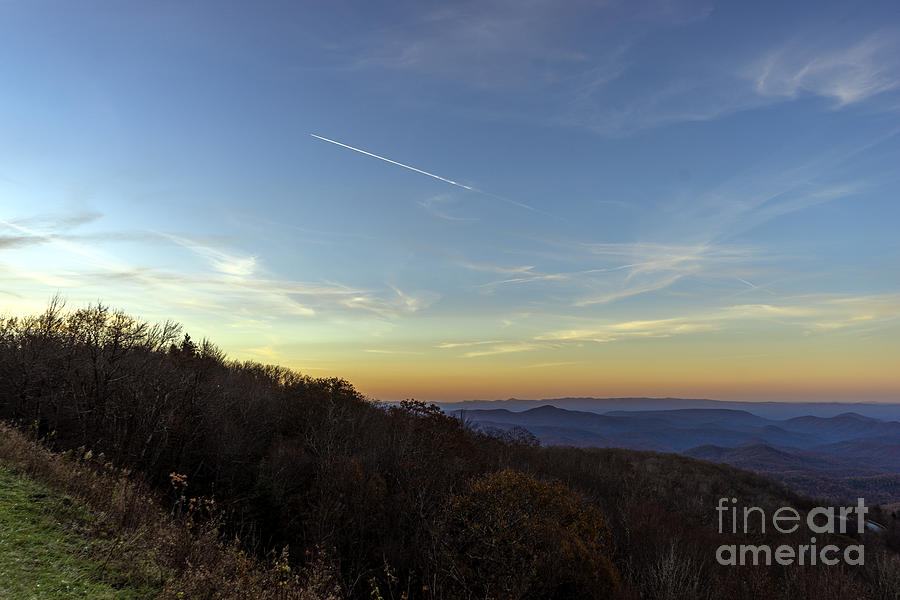 Blue Ridge Parkway Falling Star Sunset 766 by Ricardos Creations