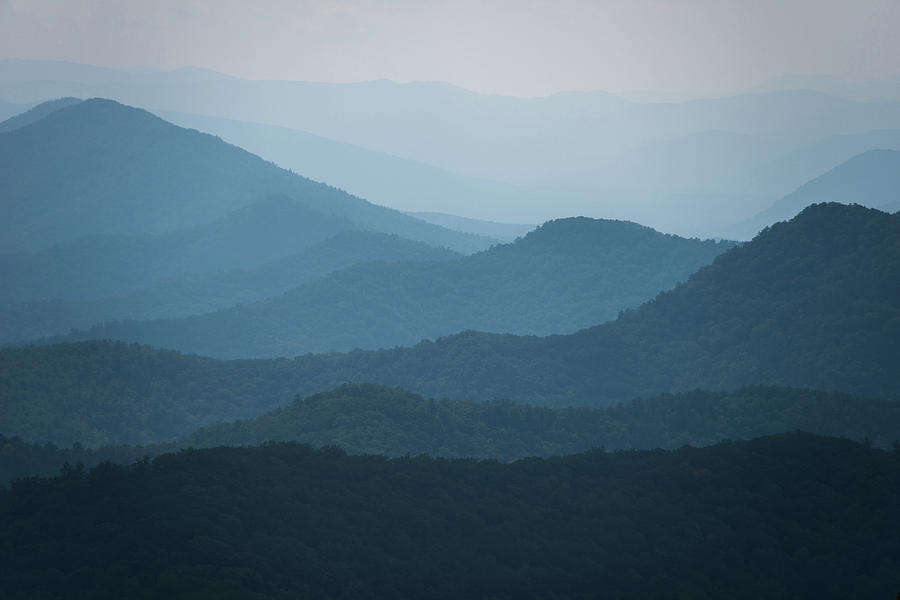 Blue Photograph - Blue Ridge Parkway by Jennifer Ancker