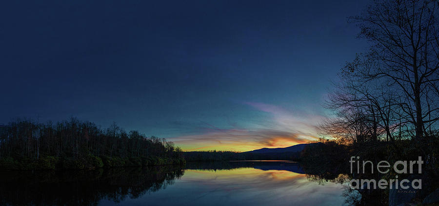Blue Ridge Parkway Mountain Lake Sunset 789G by Ricardos Creations