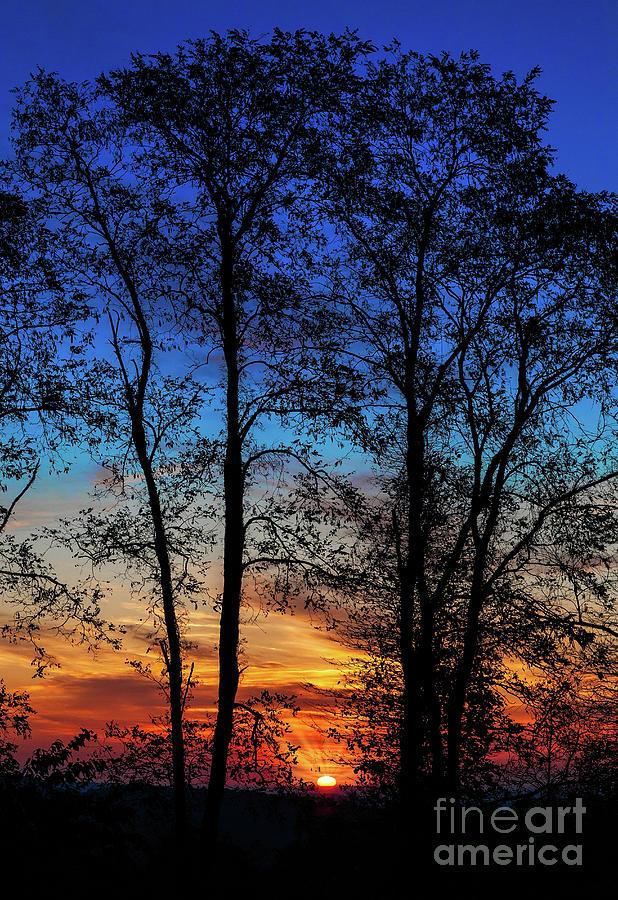 North Carolina Photograph - Blue Ridge Sunrise The Sun Emerges by Dan Carmichael