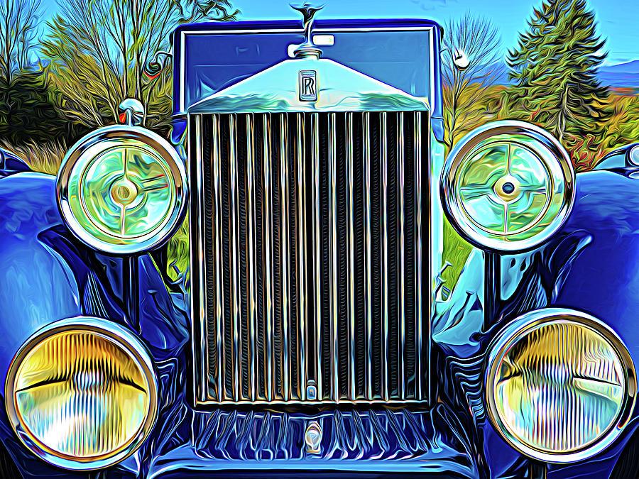 Blue Rolls Royce by Paul Wear