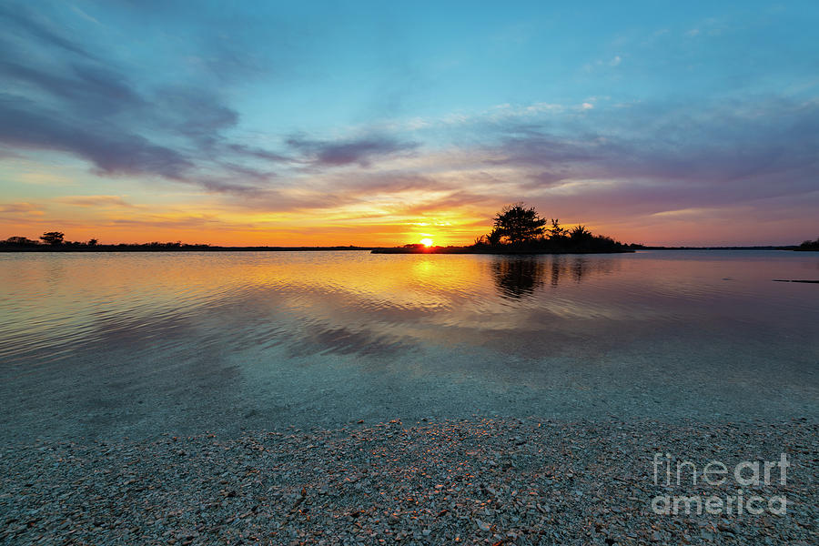 Sunset Photograph - Blue Shimmer  by Michael Ver Sprill
