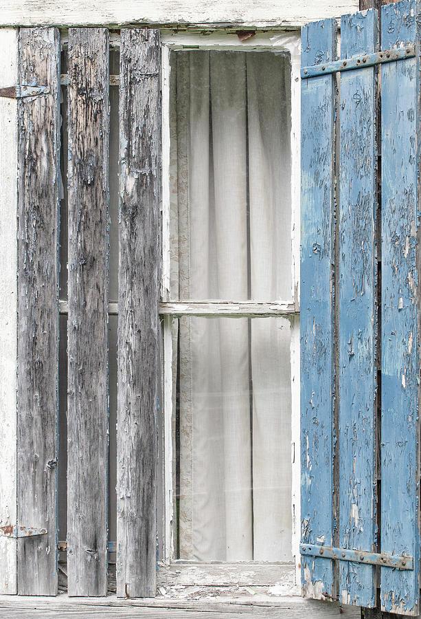 blue shutter by Alan Brown