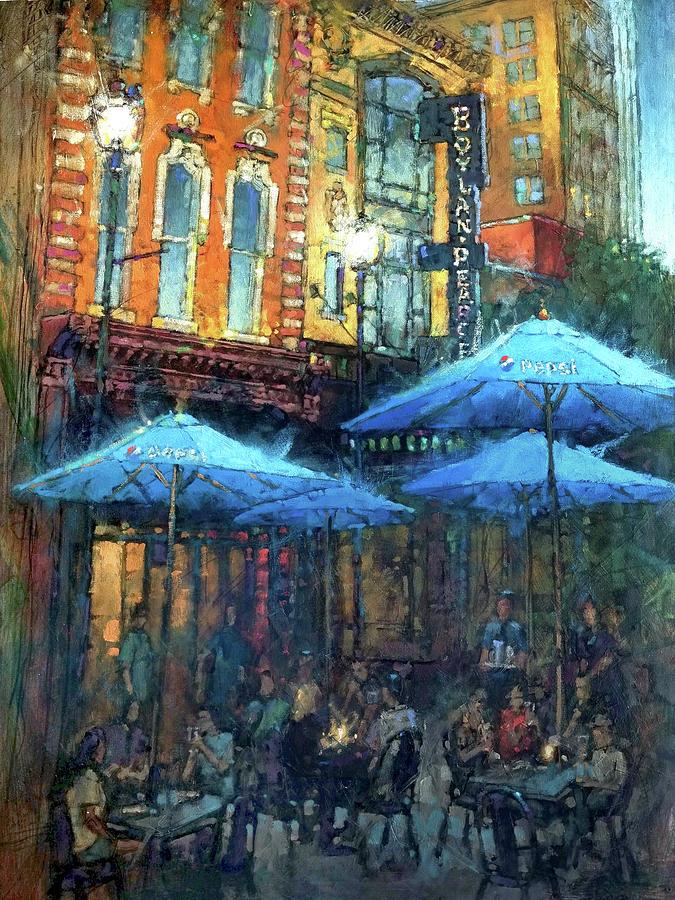Blue Sidewalk Cafe Painting