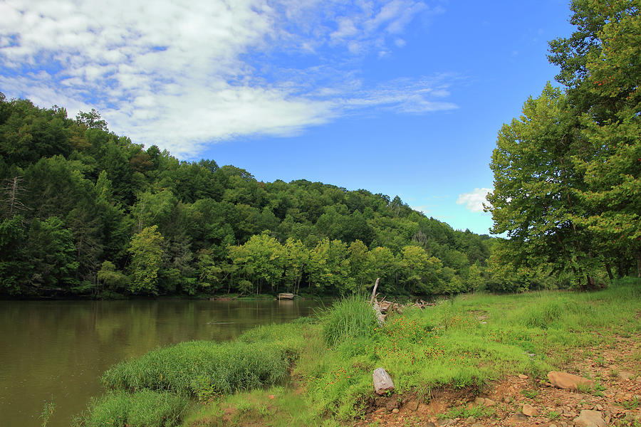 Blue Sky at Cumberland River by Angela Murdock