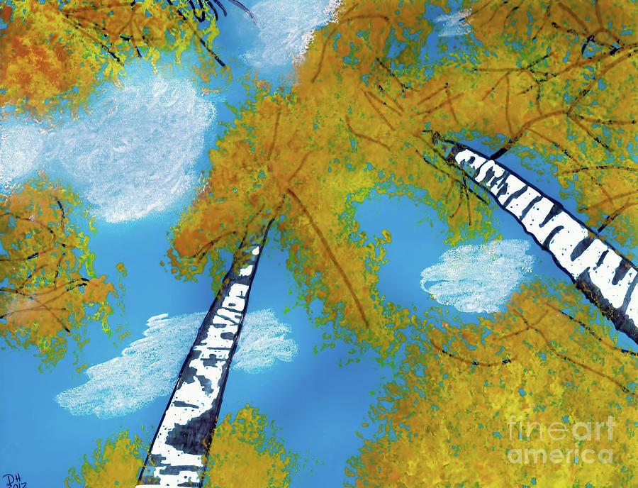 Blue Sky In Fall by D Hackett