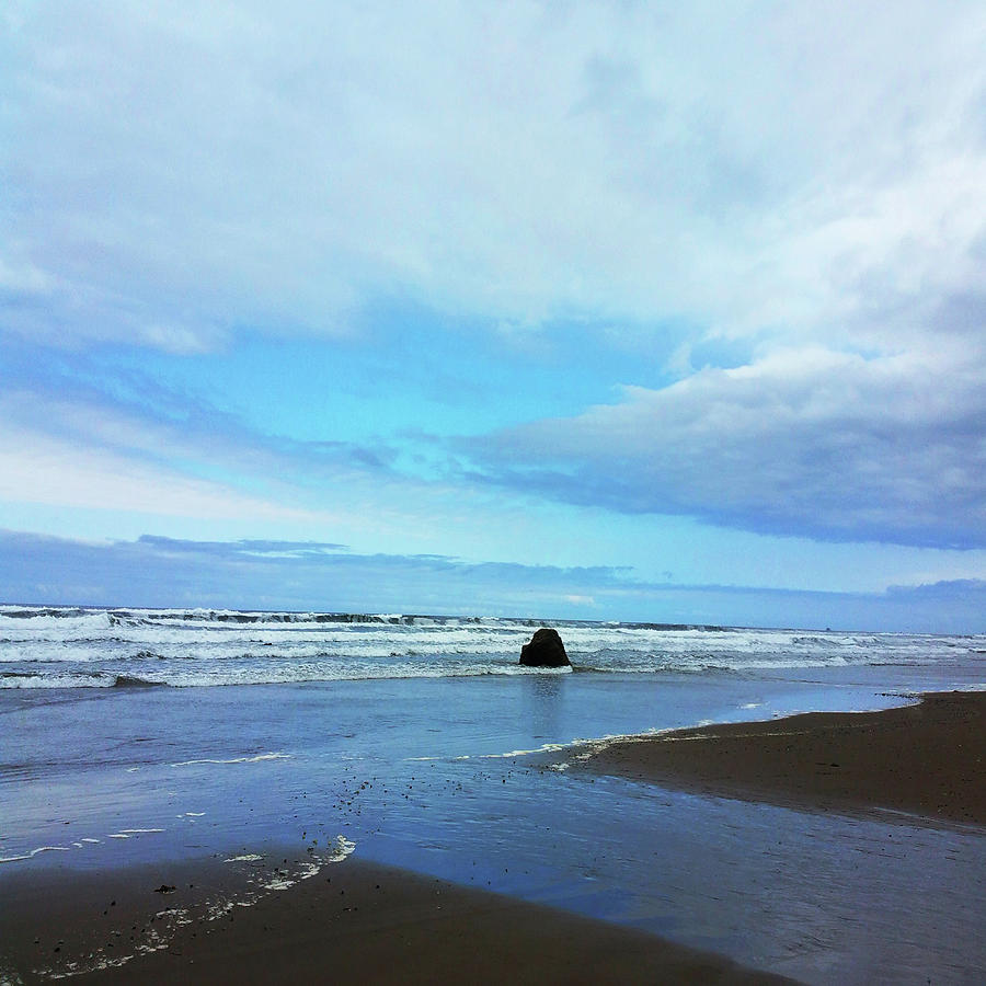 Blue Sky Oregon Coast by Melinda Firestone-White