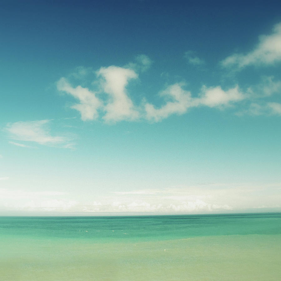 Blue Sky Over Ocean Photograph by Jodie Griggs