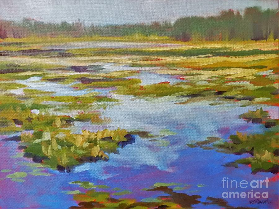 Blue Sky Reflections Painting