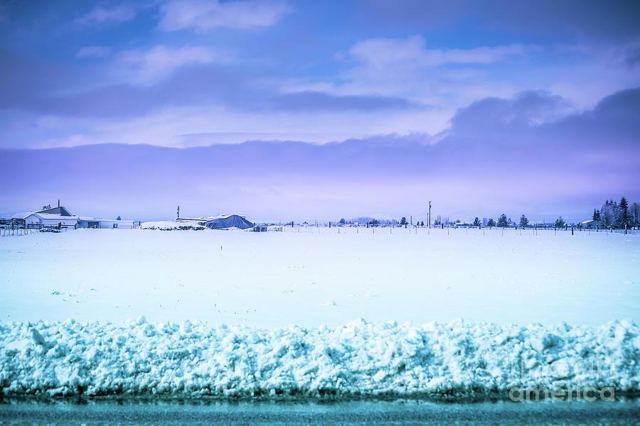 Sky Photograph - Blue Sky, White Field by Matthew Nelson
