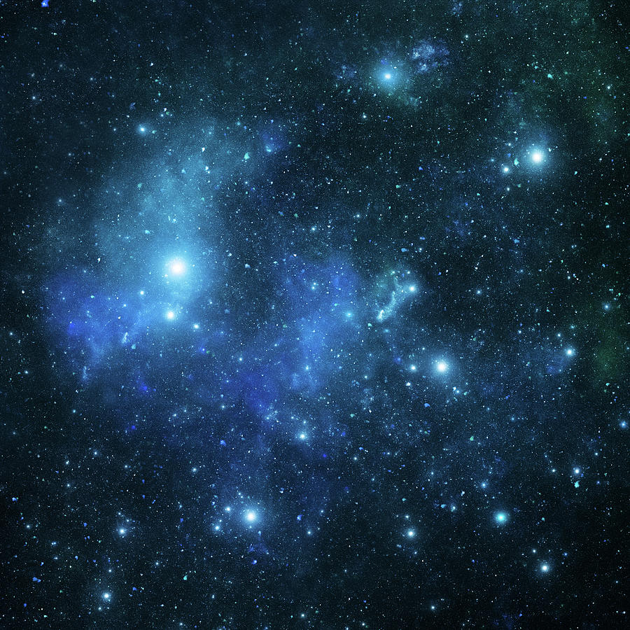 Blue Space Galaxy Photograph by Sololos
