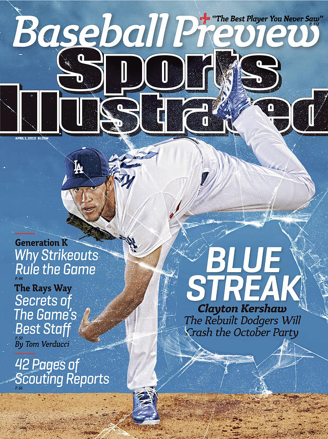 Blue Streak, 2013 Mlb Baseball Preview Issue Sports Illustrated Cover Photograph by Sports Illustrated