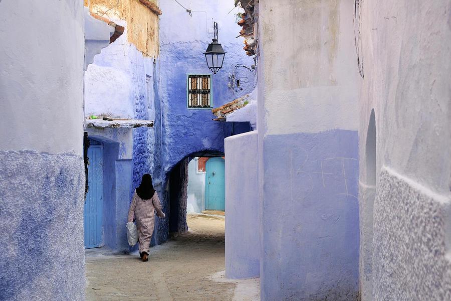 Blue Street Photograph by Ania Blazejewska