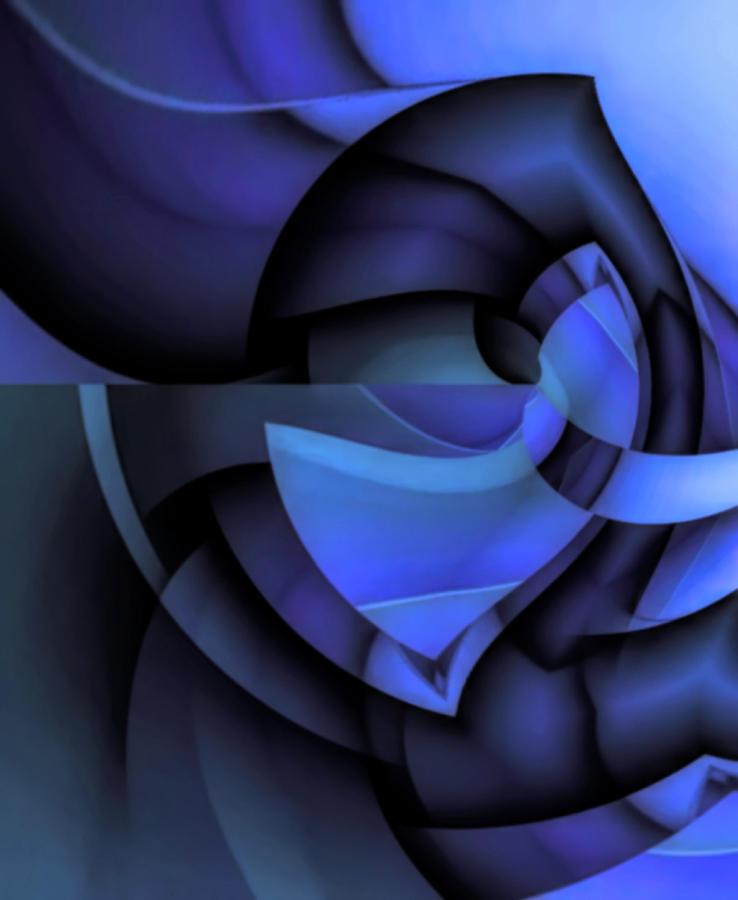 Sweden Digital Art - Blue Style by Barry W King
