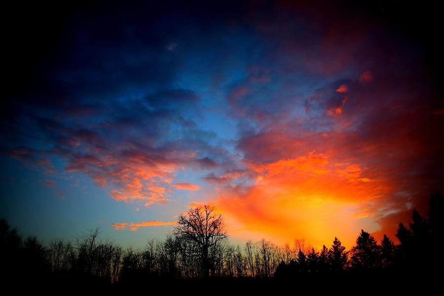 Blue Sunset by Mark Salamon