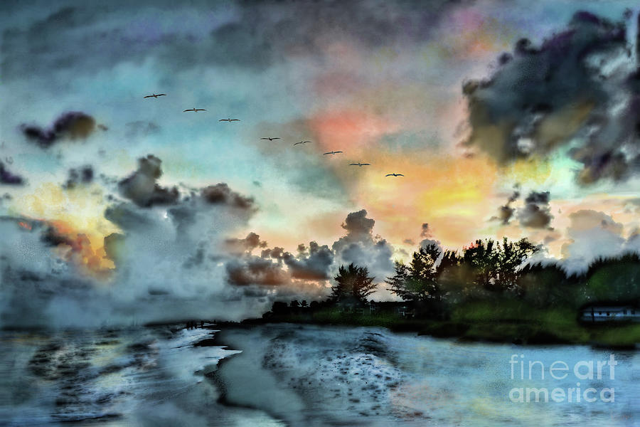 Sunrise Photograph - Blue Sunset Over Sanibel Island by Jeff Breiman