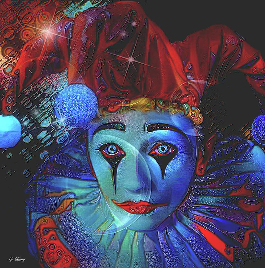 BLUE THE CLOWN by G Berry
