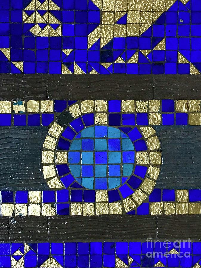 Blue Tile Detail by Suzanne Lorenz