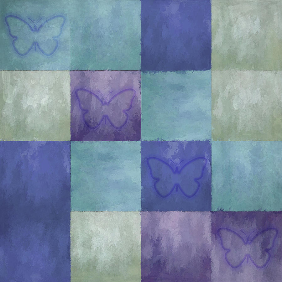 Blue Tiles with Butterflies by Jason Fink