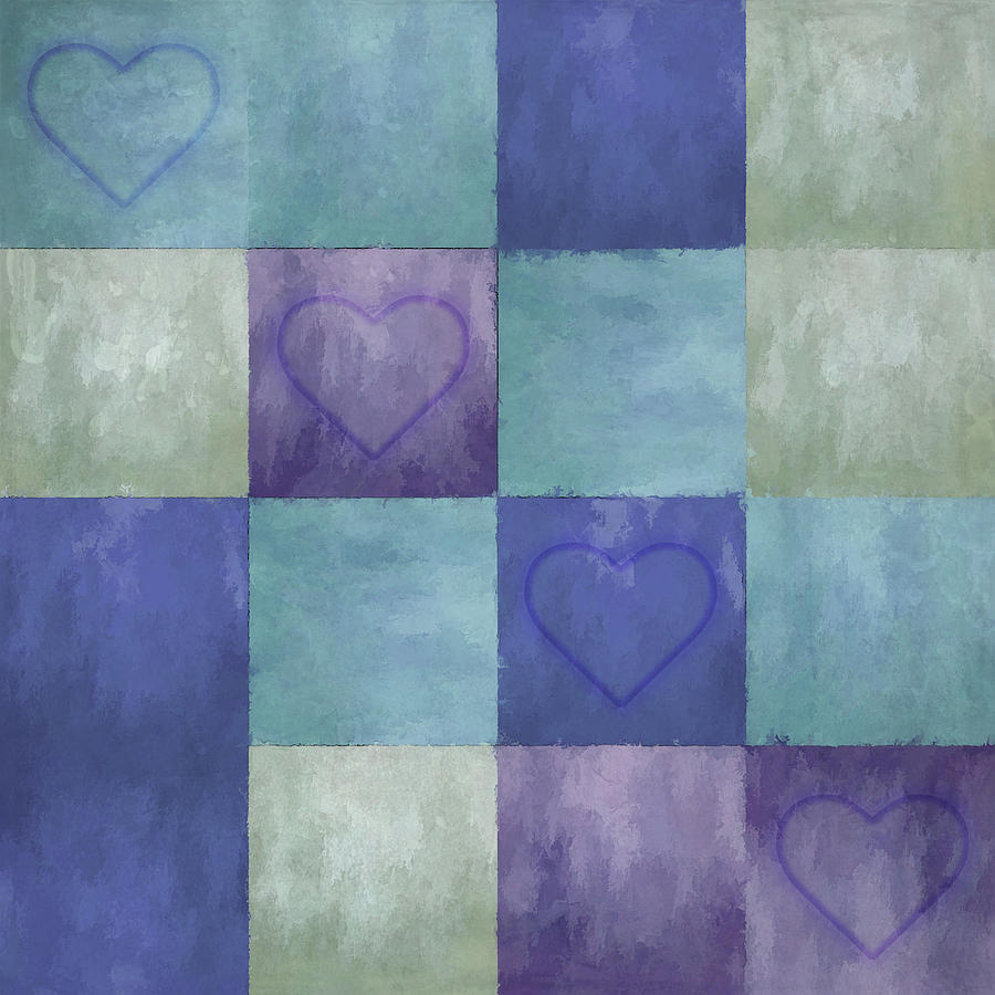 Blue Tiles with Hearts by Jason Fink