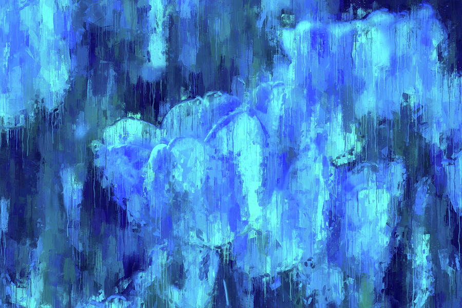 Blue Tulips On A Rainy Day by Alex Mir