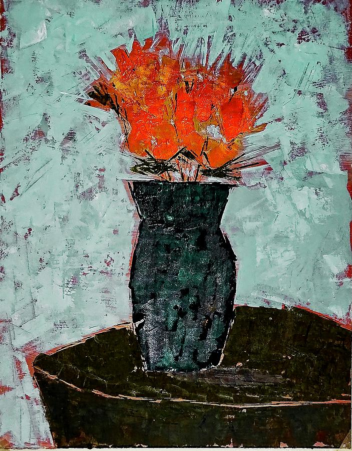 Blue Vase Painting - Blue Vase by Marty Klar