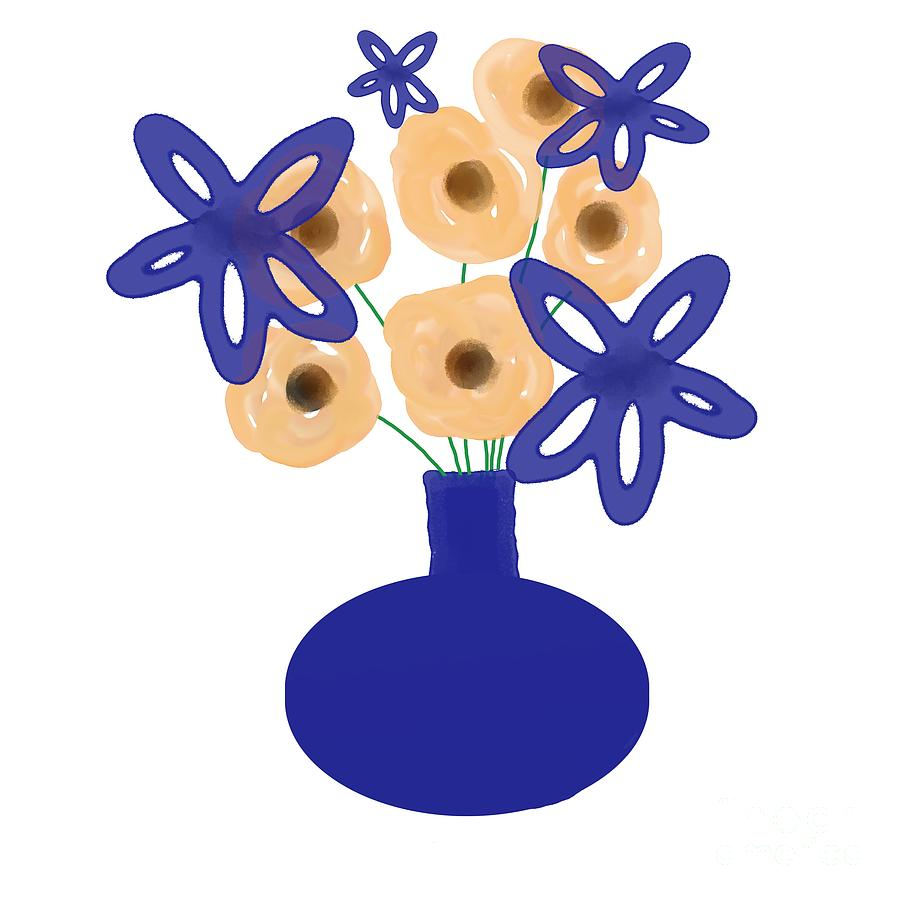 Blue Vase Digital Art