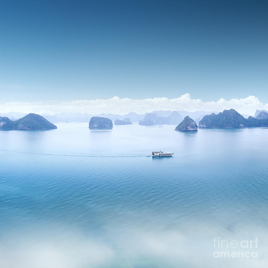 North Photograph - Blue Water And Sky Aerial View Panorama by Banana Republic Images