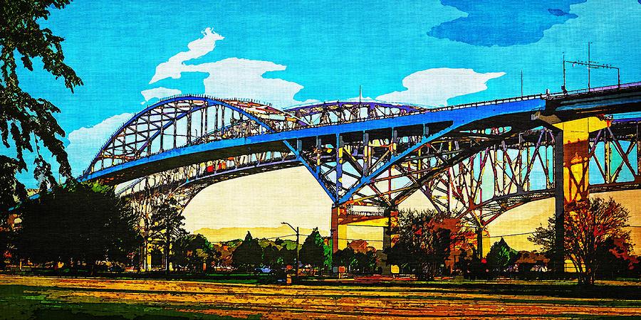 Blue Water Bridge 12 by Cliff Guy