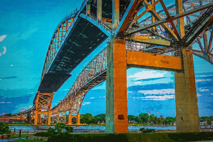 Blue Water Bridge 15 by Cliff Guy