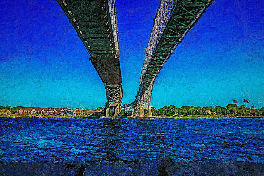 Blue Water Bridge 18 by Cliff Guy