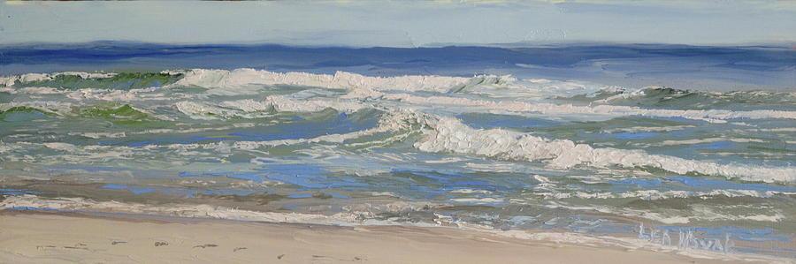 Blue Water, Choppy Waves by Lea Novak