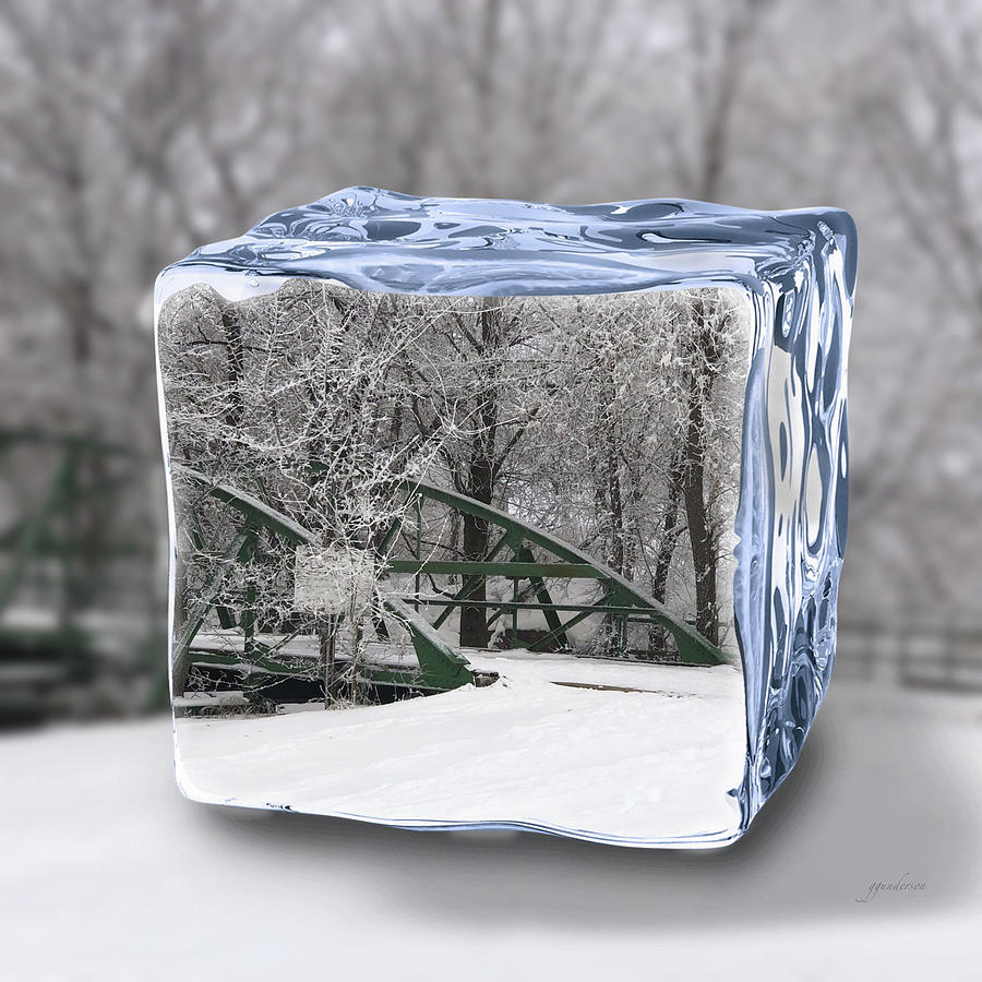 Blue Water ice cube by Gary Gunderson
