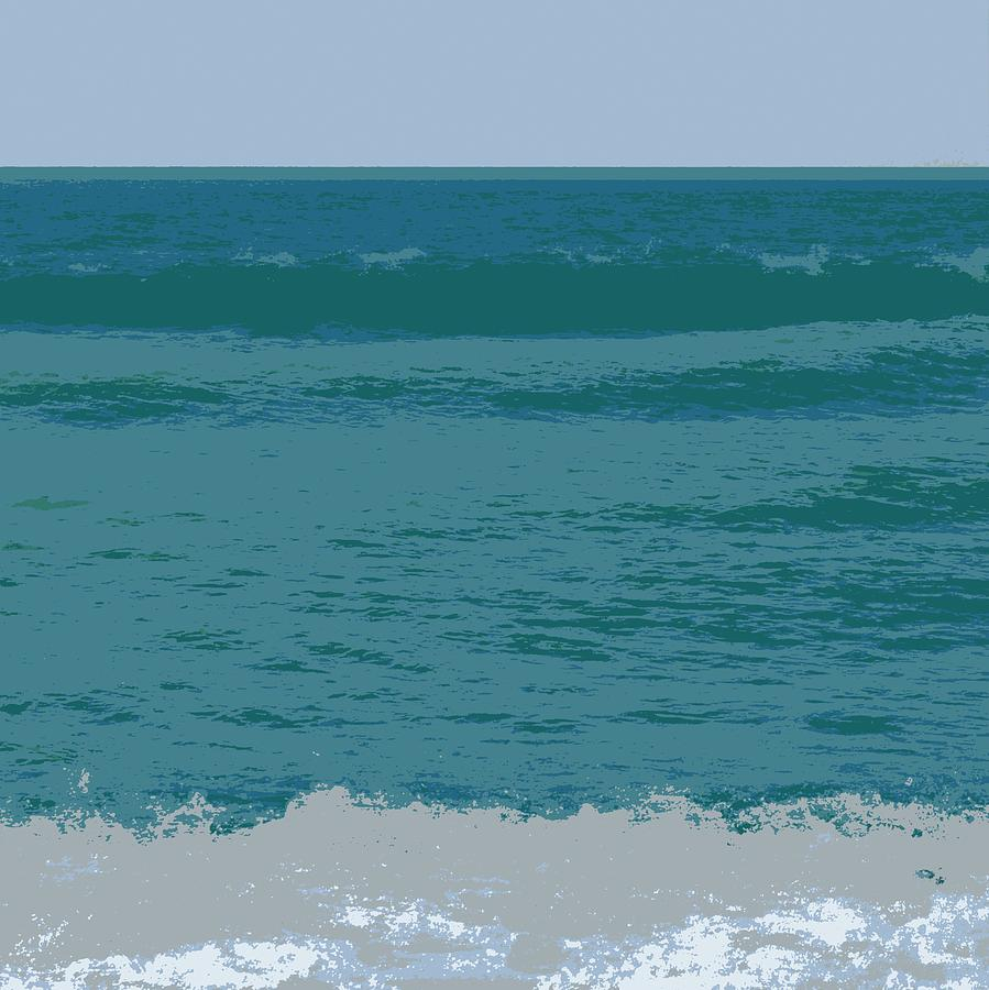 Blue Waters and Waves Digital Art by Michelle Calkins