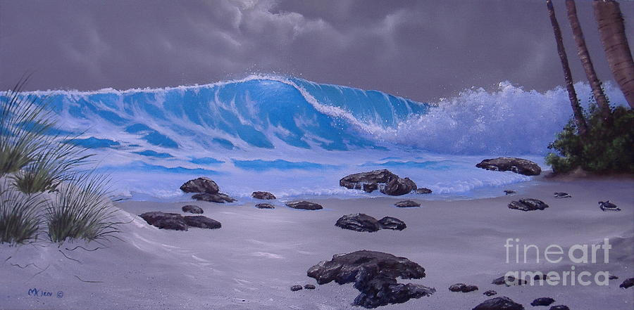Blue Wave by Night by Michael Allen