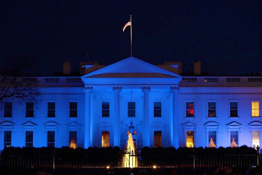 Blue White House by Chris Montcalmo
