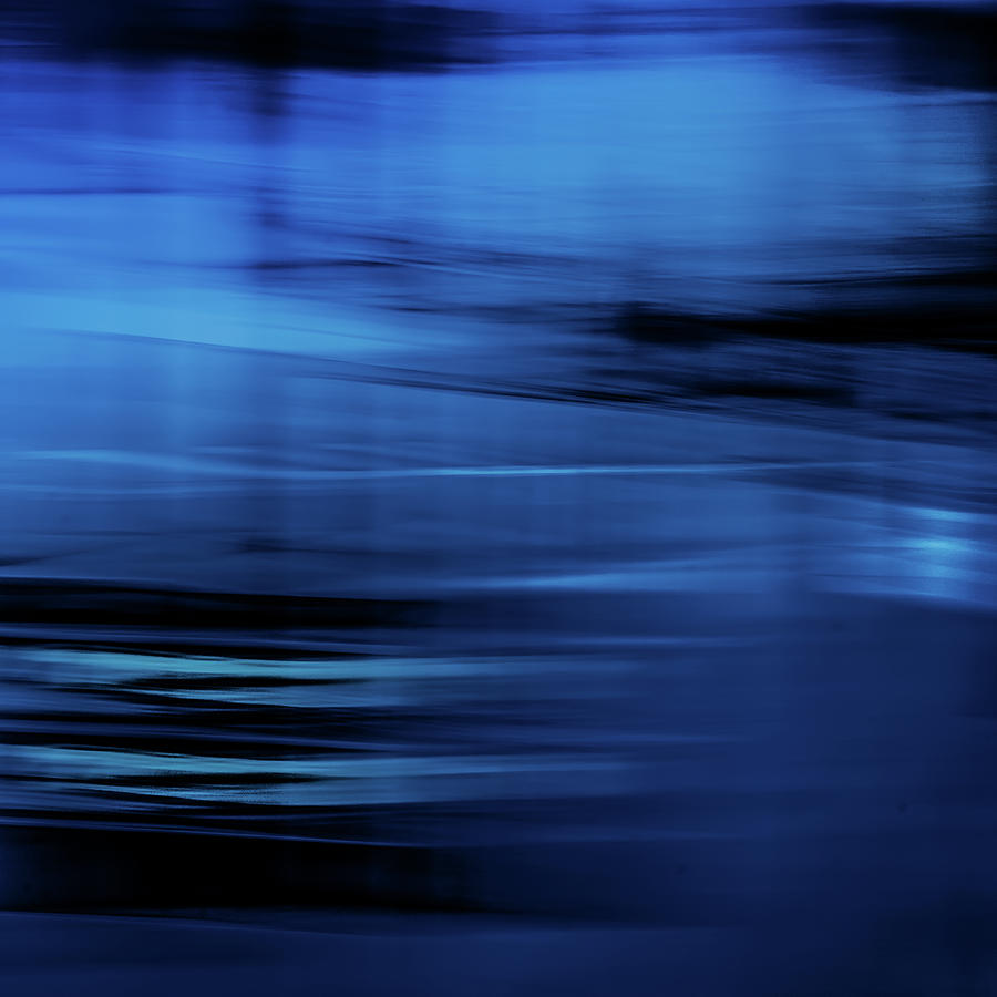 Abstract Photograph - Blue Wind II by Anne Leven