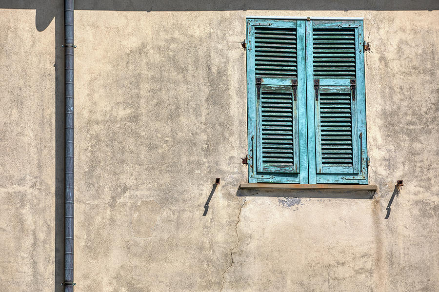 Blue Window Shutter of Cinque Terre by David Letts