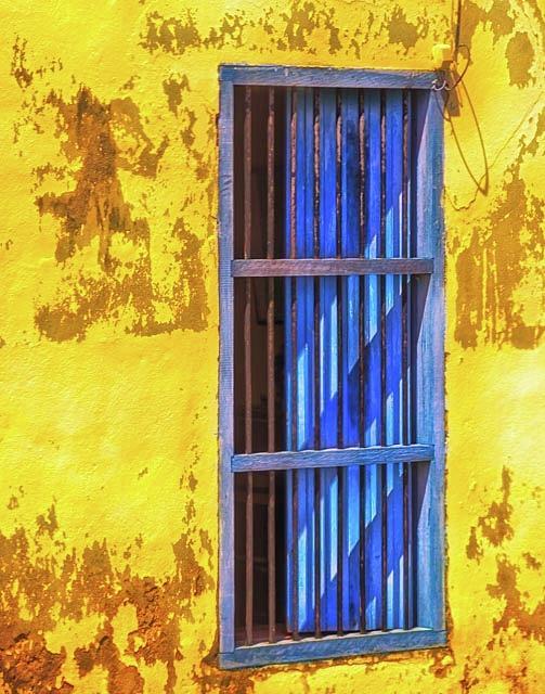 Blue Window by Winnie Chrzanowski