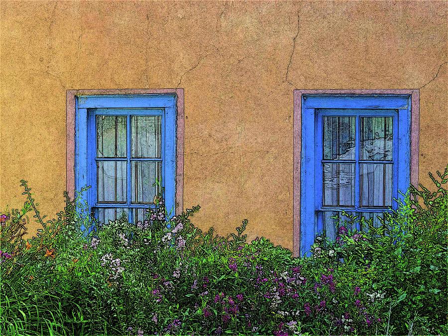 Blue Windows by Western Light Graphics