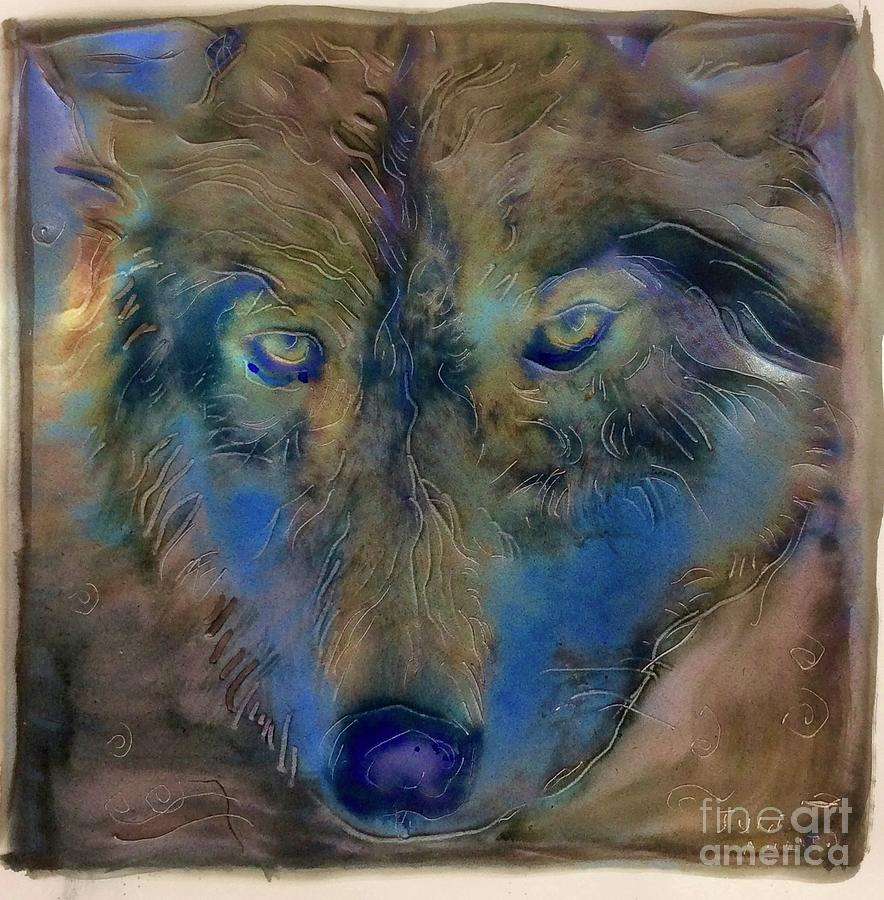 Blue Wolf Rising by FeatherStone Studio Julie A Miller