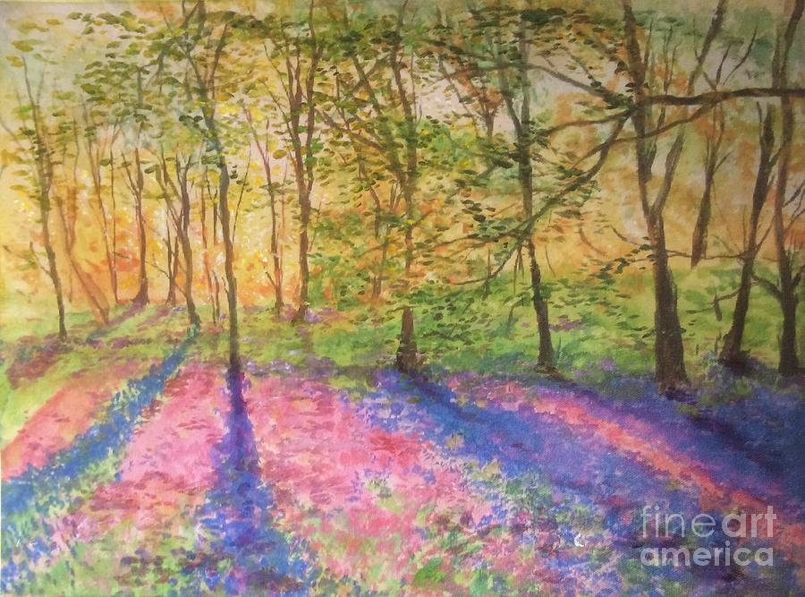 Bluebell Woodlands Painting