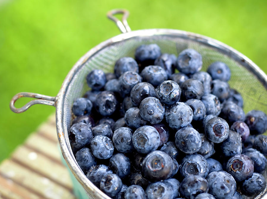 Blueberries, Blue Berry Fruit In Photograph by Funwithfood