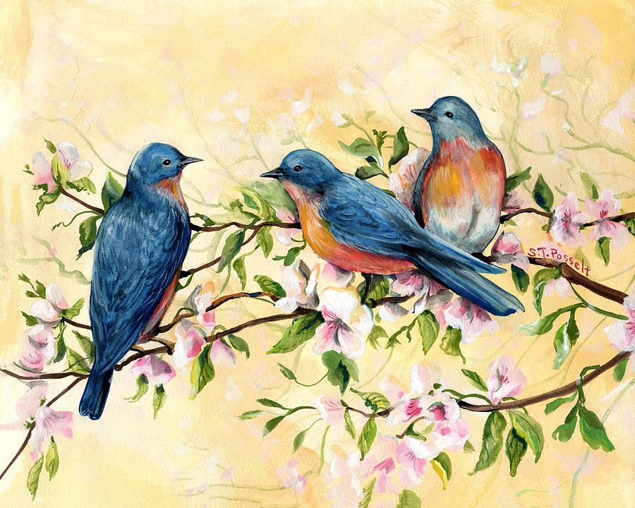 Bluebird Blossoms by Sheri Jo Posselt